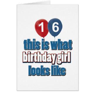 Birthday Girl 16 Greeting Card