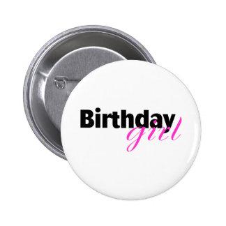 Birthday girl (2) 6 cm round badge