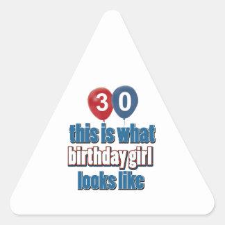 Birthday Girl 30 Stickers