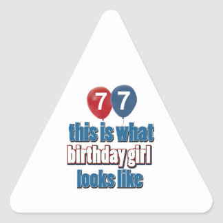 Birthday Girl 77 Stickers