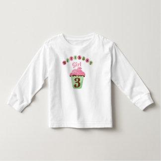 Birthday Girl Age 3 Toddler T-Shirt