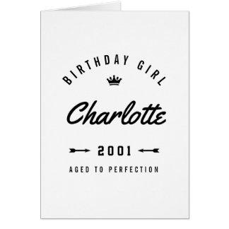 Birthday Girl Aged To Perfection Nostalgic Card