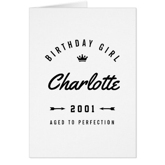 Birthday Girl Aged To Perfection Nostalgic Card