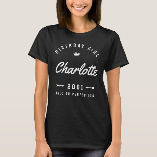 Birthday Girl Aged To Perfection Retro T-Shirt