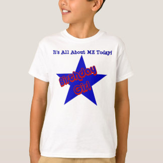Birthday Girl All About Me Kids Cute T-Shirt