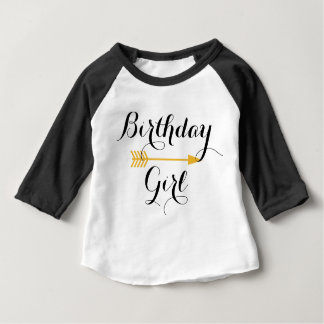 Birthday Girl - Boho Gold Arrow - Customize Baby T-Shirt