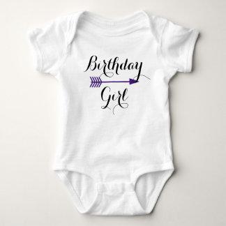 Birthday Girl - Boho Purple Arrow - Customize Baby Bodysuit