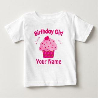 Birthday Girl Cupcake Personalized T Shirt