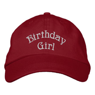 Birthday Girl Cute Embroidered Cap