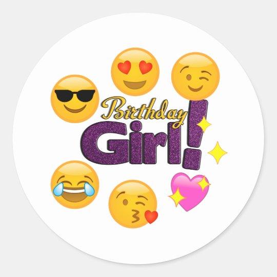 Birthday Girl Emojis Stickers