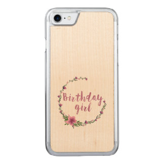 Birthday girl Flowers Carved iPhone 7 Case