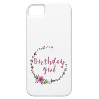 Birthday girl Flowers iPhone 5 Covers