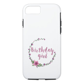Birthday girl Flowers iPhone 7 Case
