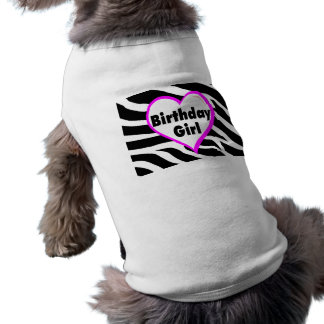 Birthday Girl (Heart Zebra Stripes) Shirt