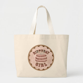 Birthday girl jumbo tote bag