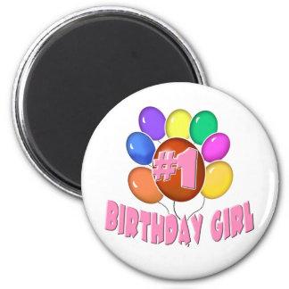 Birthday Girl 6 Cm Round Magnet