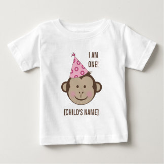 Birthday Girl Monkey Face Shirt