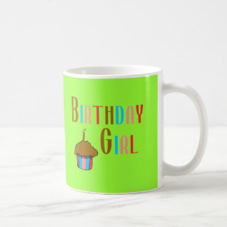 Birthday Girl Multicolored Products Basic White Mug