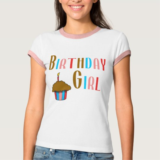 Birthday Girl Multicolored Products T-Shirt