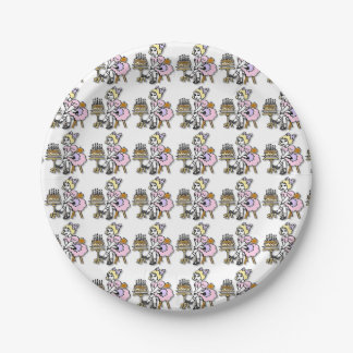 Birthday Girl Paper Plates 7 Inch Paper Plate