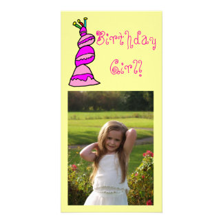 Birthday Girl Personalized Photo Card