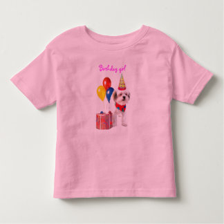Birthday girl puppy shirt
