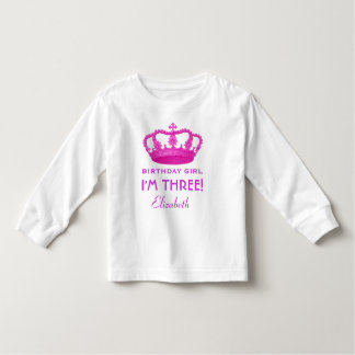 Birthday Girl Royal Princess Crown 3 Years Old V02 Toddler T-Shirt