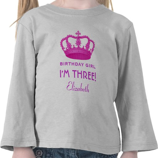 Birthday Girl Royal Princess Crown 3 Years Old V02 Tees