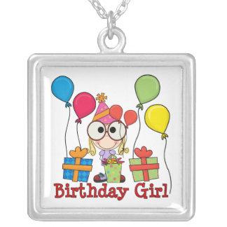 Birthday Girl Square Pendant Necklace