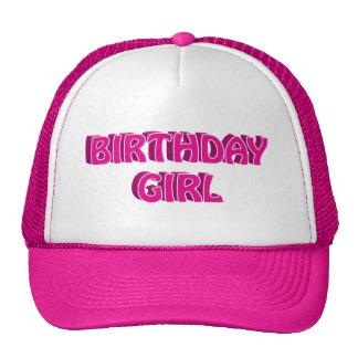 Birthday Girl Text Trucker Hats