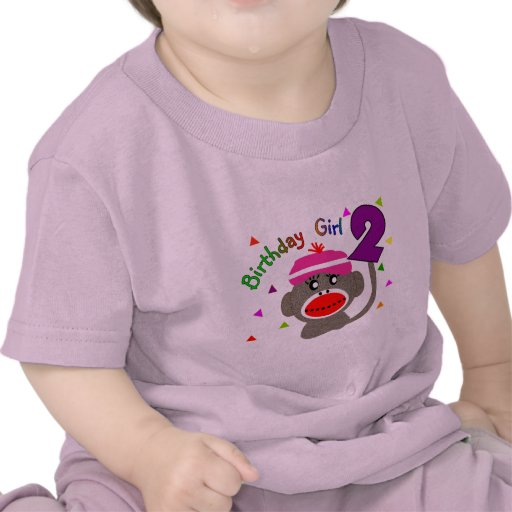 Birthday Girl --Two Year Old T Shirts