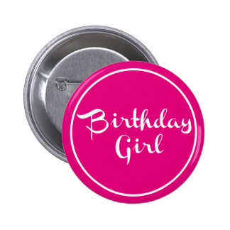 Birthday Girl Typography 6 Cm Round Badge