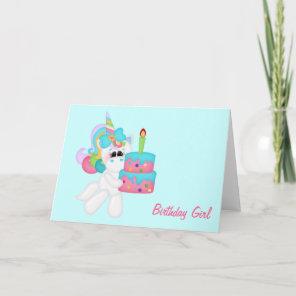 Birthday Girl Unicorn (customisable) Card