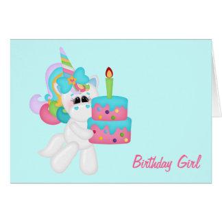 Birthday Girl Unicorn customizable Card