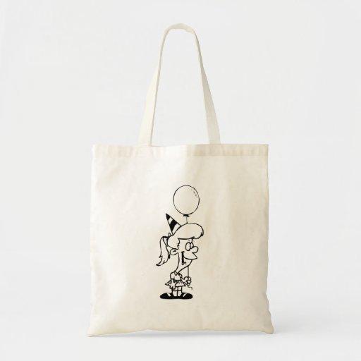 Birthday Girl with Balloon Tote Bag
