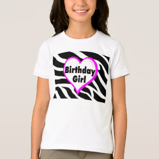 Birthday Girl Zebra Stripes T-Shirt