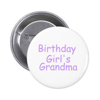 Birthday Girls Grandma 6 Cm Round Badge