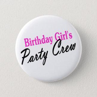 Birthday Girls Party Crew 6 Cm Round Badge