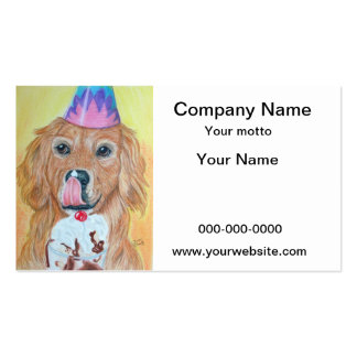 Birthday Golden Retriever Pack Of Standard Business Cards