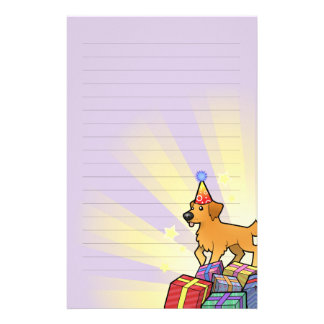 Birthday Golden Retriever Stationery