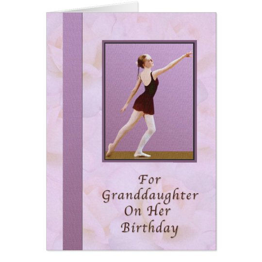 Birthday, Granddaughter, Ballerina Card