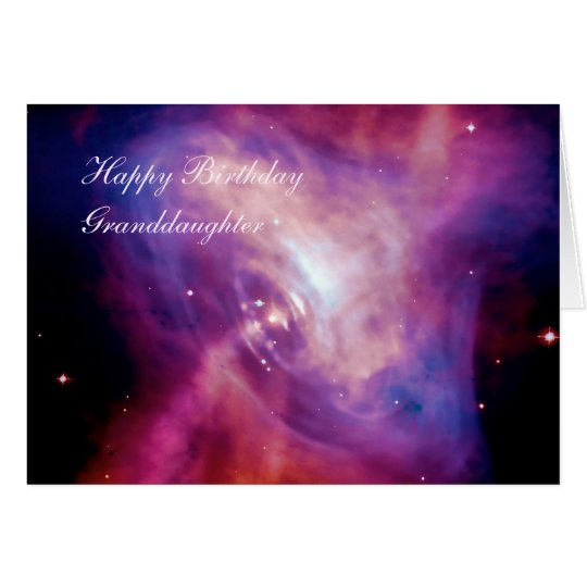 Birthday Granddaughter - Crab Pulsar Time Lapse Card