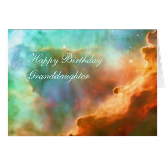 Birthday Granddaughter - The Omega Nebula Greeting Cards