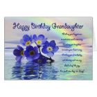 Birthday granddaughter with forget me nots card