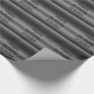 Birthday, grandpa, black and silver , gift wrap. wrapping paper