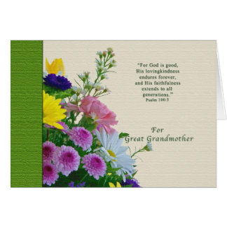 Birthday, Great Grandmother, Floral Bouquet Card