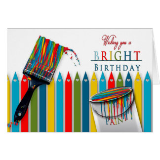 BIRTHDAY GREETING - BRIGHT - CONCEPT/Paintbrush Card