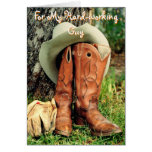 Birthday Greeting Card: Cowboy Hat and Boots