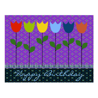 Birthday greeting Card for all ages : Tulips