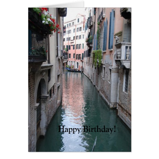 Birthday Greeting Card with Venice, Italy